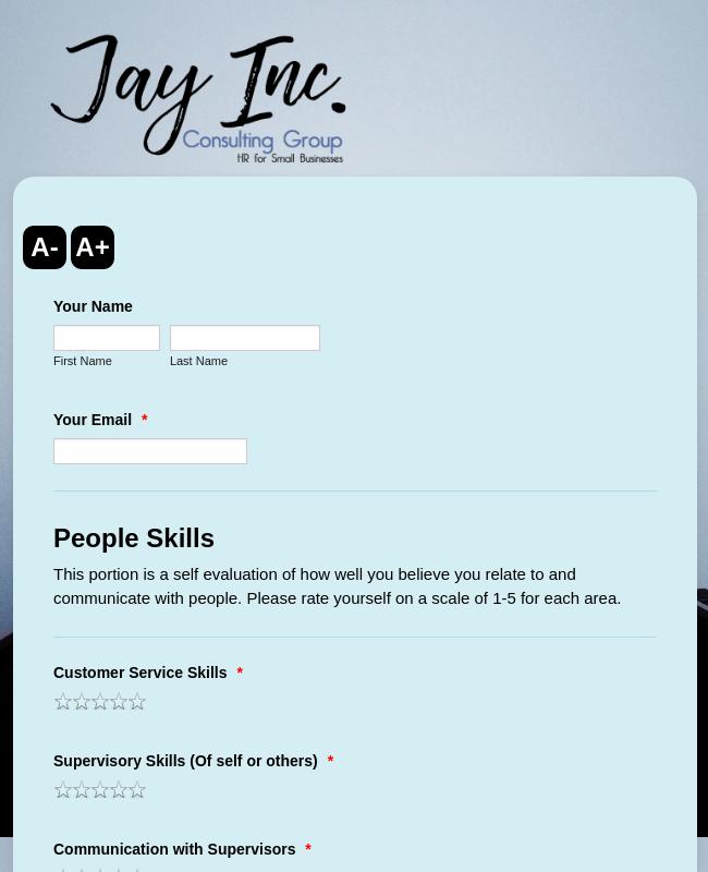 JCG - Employee Review - Self Assessment