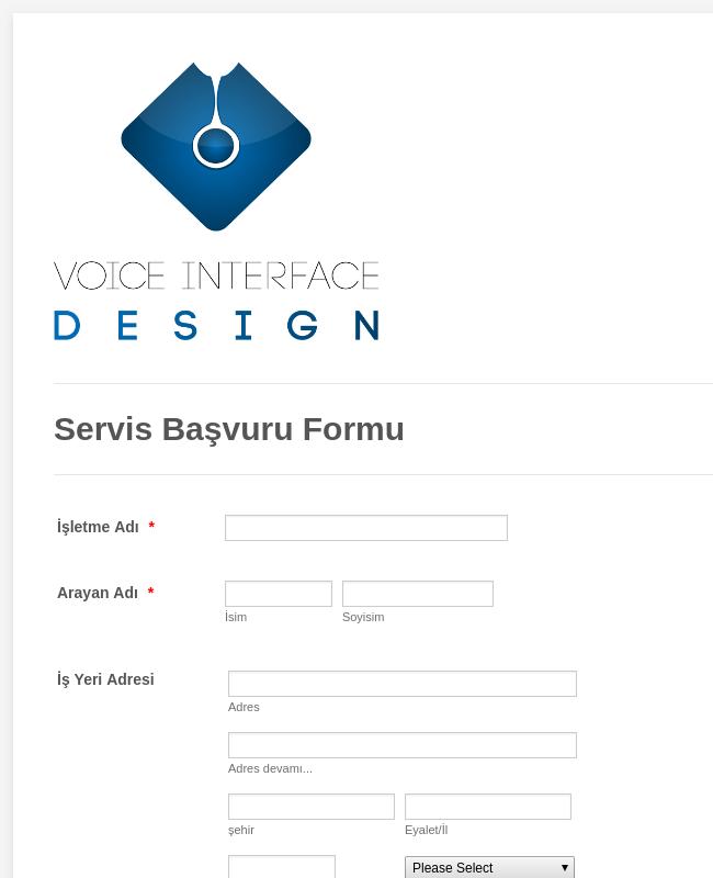 IT Servisi Başvuru Formu