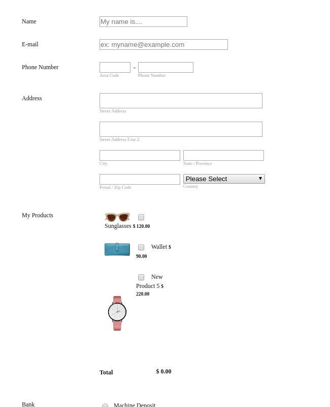 Women's Fashion Order Form   Paypal Invoicing