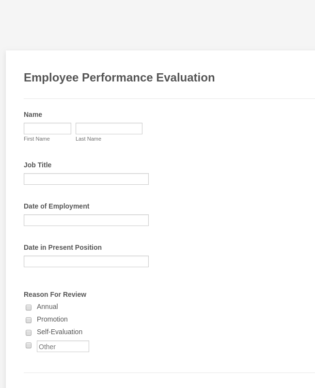 Employee Review Form