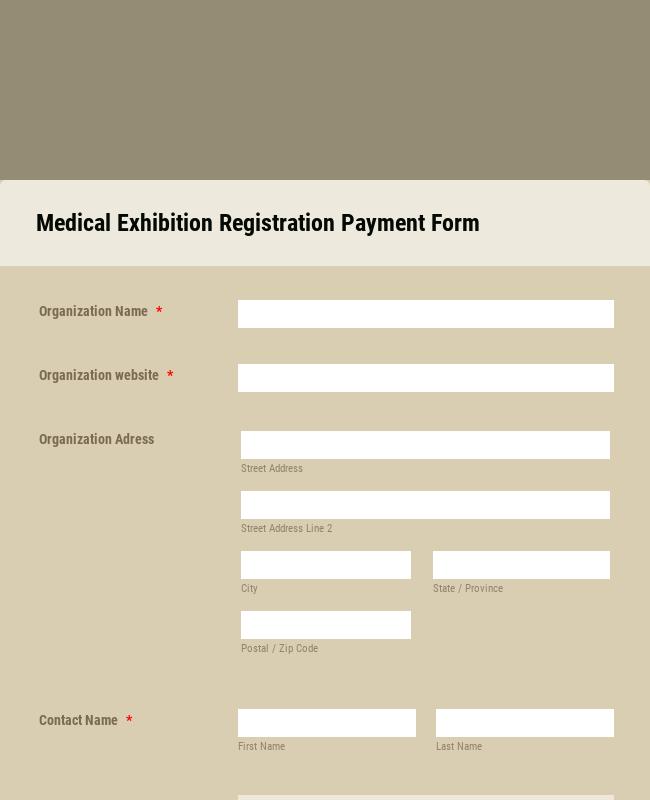 Medical Exhibition Registration Form