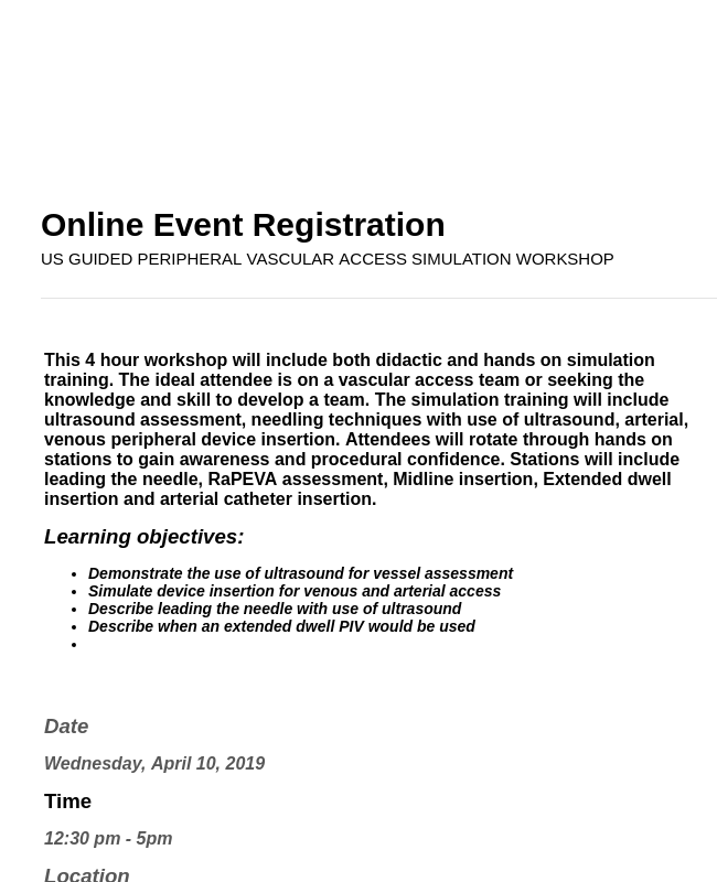 Clone of Event Registration Form