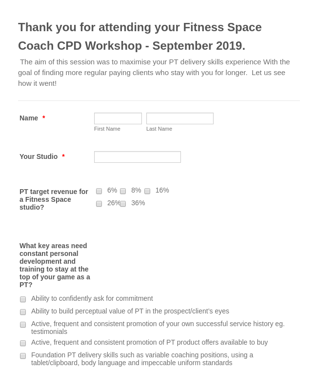 CPD Workshop