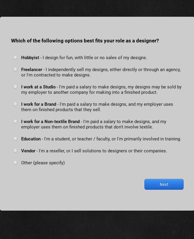 Adobe Textile Designer - Product Survey