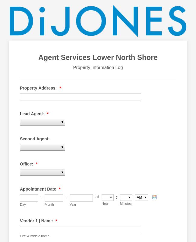 Property Information Log - V1 2019