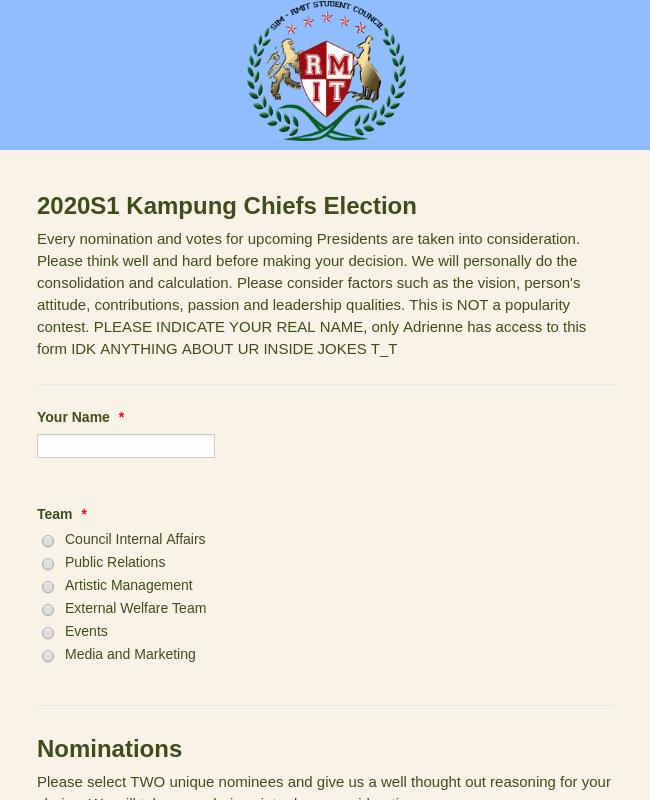 SIM-RMITSC Presidential Election