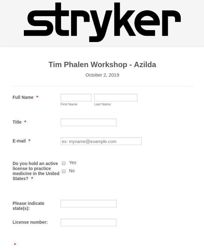 Workshop Sign In Form