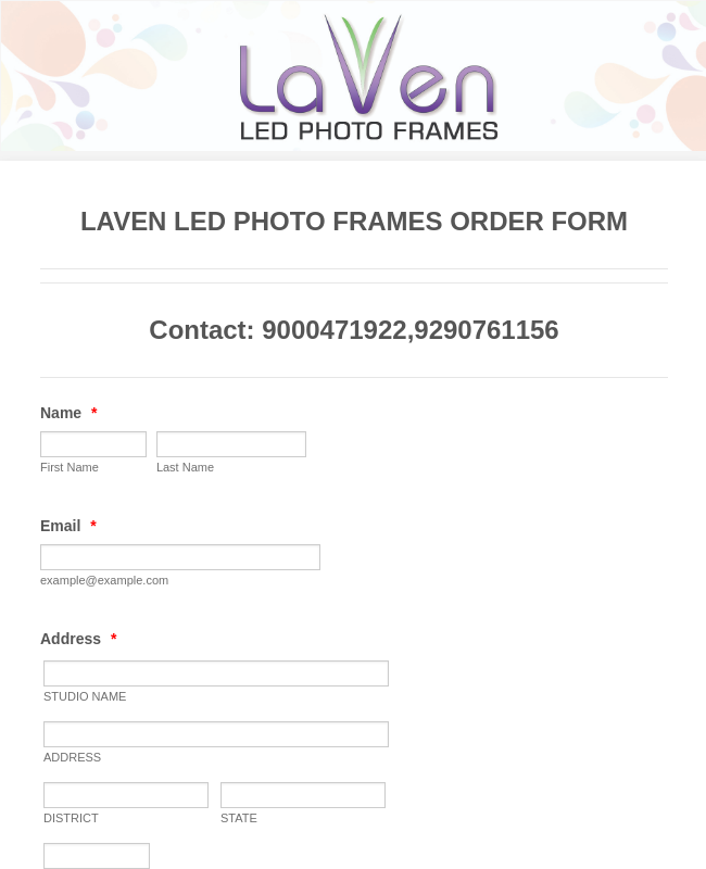 BOOK MY LAVEN LED PHOTO FRAME WE TRANSFER