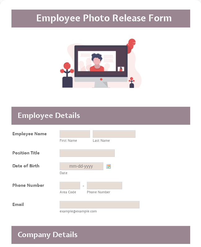 Employee Photo Release Form
