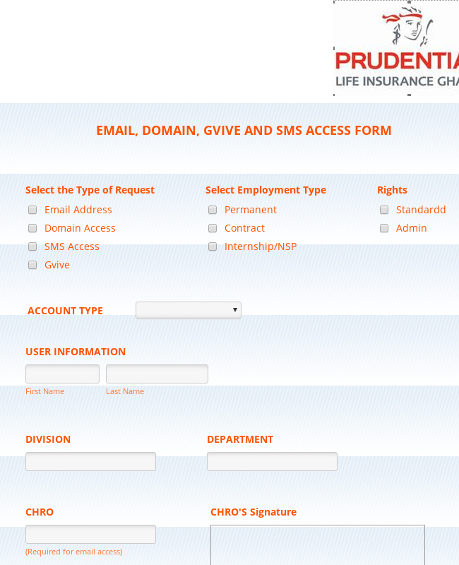Administrative Account Access Request Form