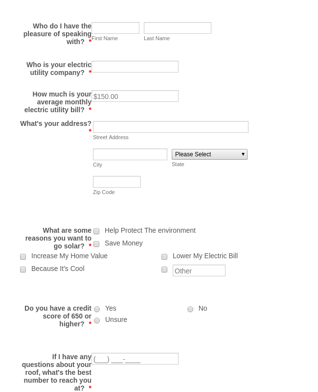 Solar Referral Form Template
