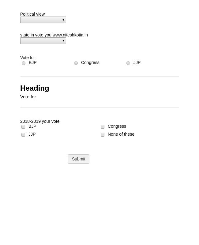 Election survey