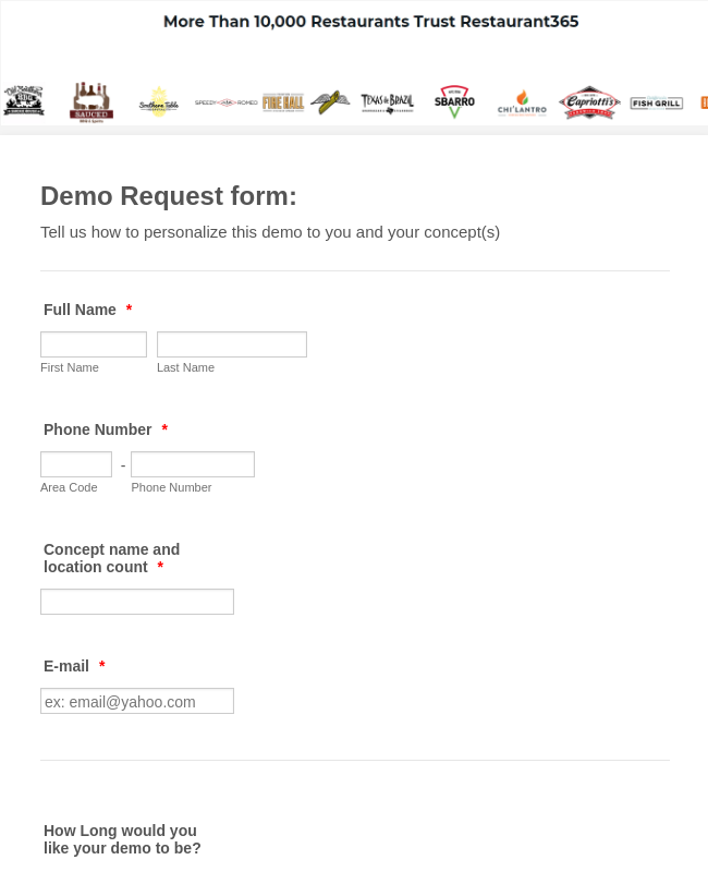 Demo Request Form