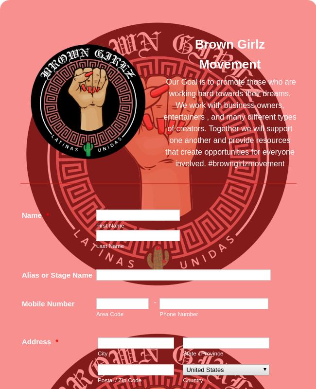 Social Movement Community Registration Form