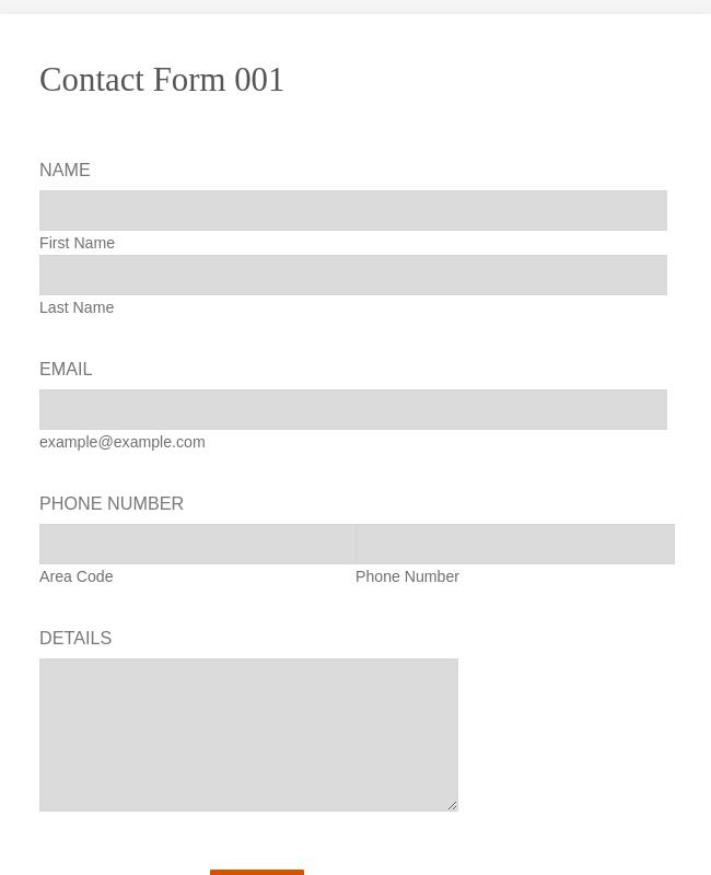 Company Contact Form