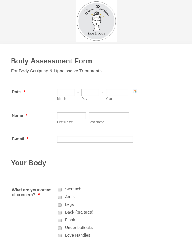 Body Assessment Form
