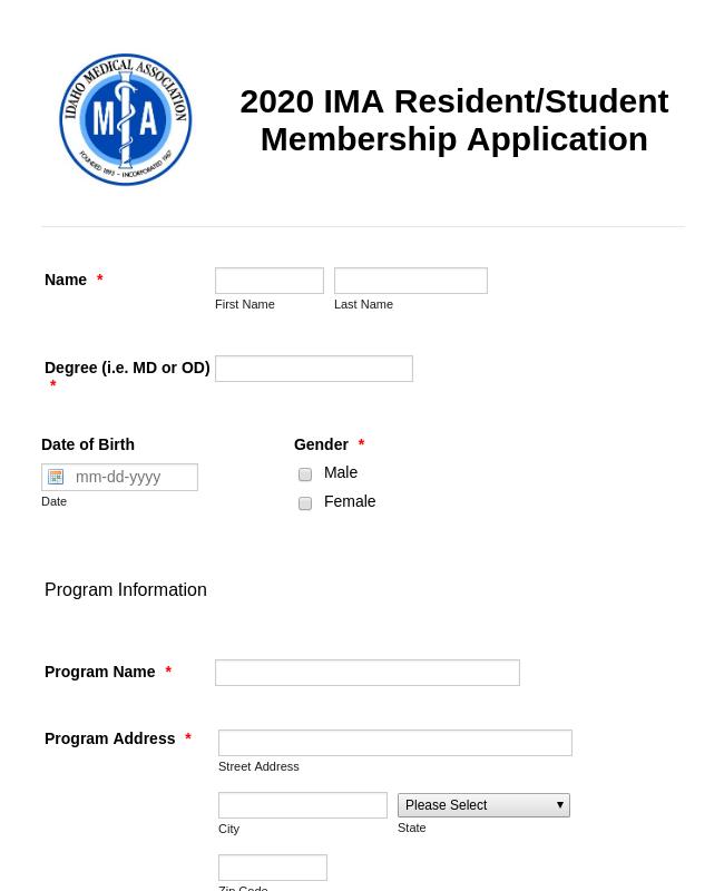 Medical Association Membership Application Form