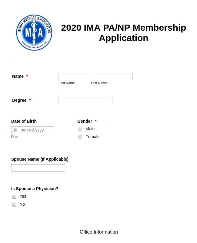 Association Membership Application Form