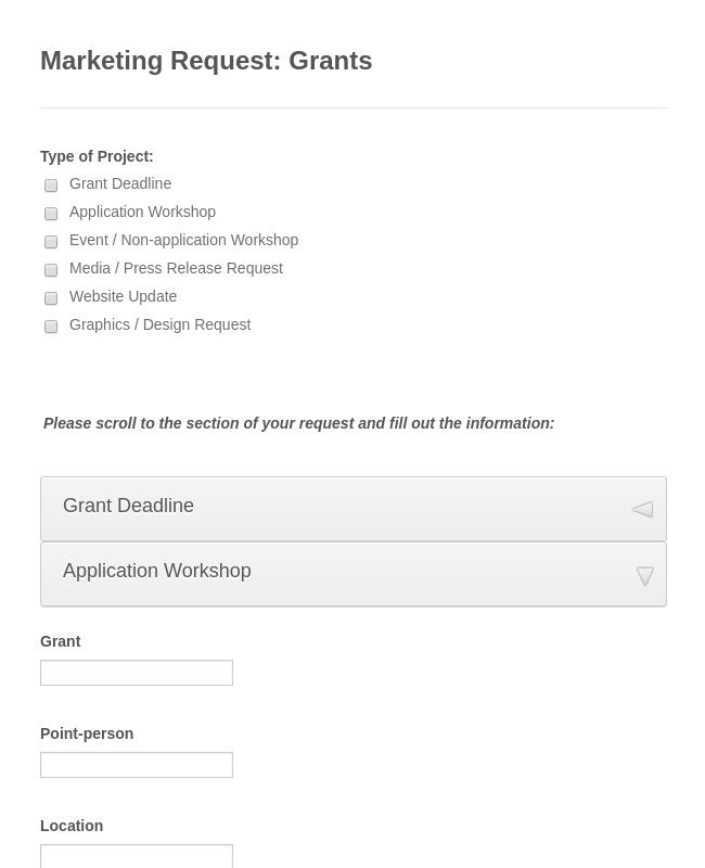 Marketing Quest Form