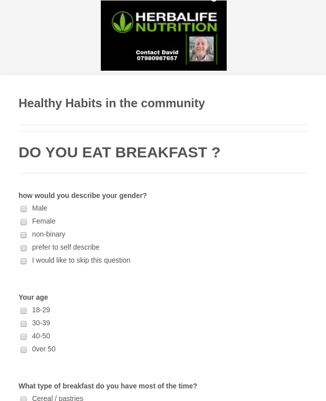Healthy Habits in the community
