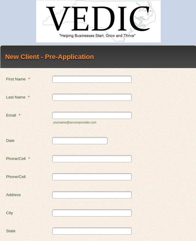 Loan Pre-Application Form