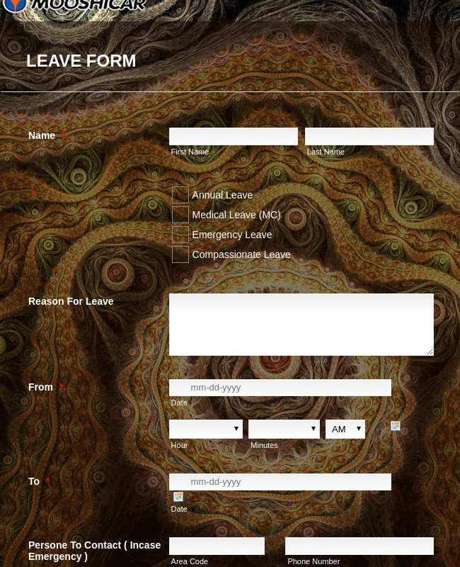 Leave Form