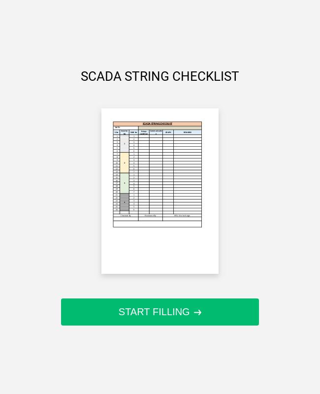 SCADA STRING CHECKLIST