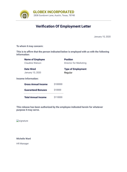 Verification Of Employment Letter Sample Template from cdn.jotfor.ms