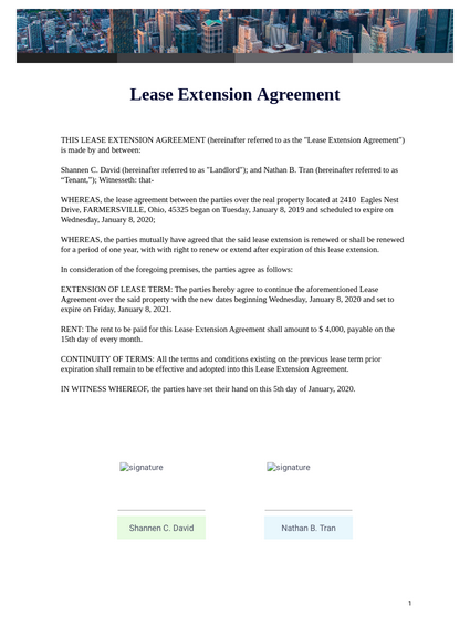 early lease termination letter