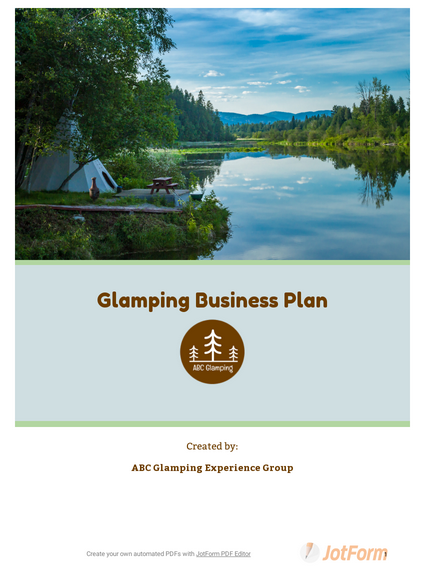 Glamping Business Plan