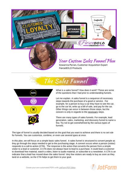 Custom Sales Funnel Plan