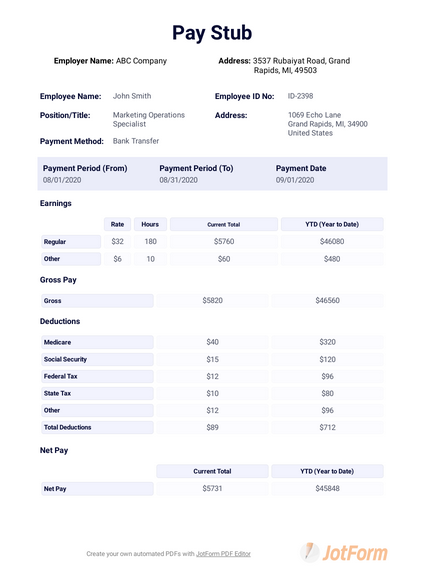 Free Online Pay Stub Template from cdn.jotfor.ms