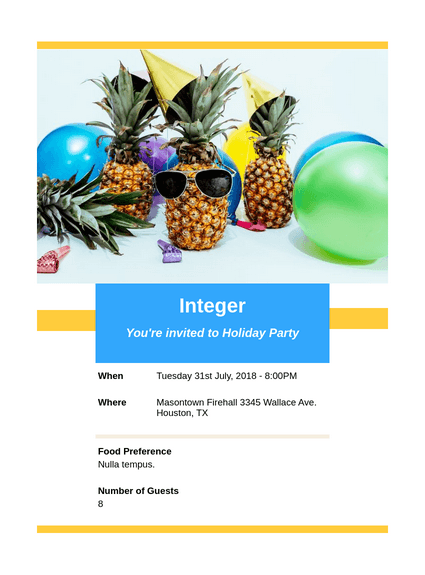 Holiday Party Invitation Pdf Templates Jotform