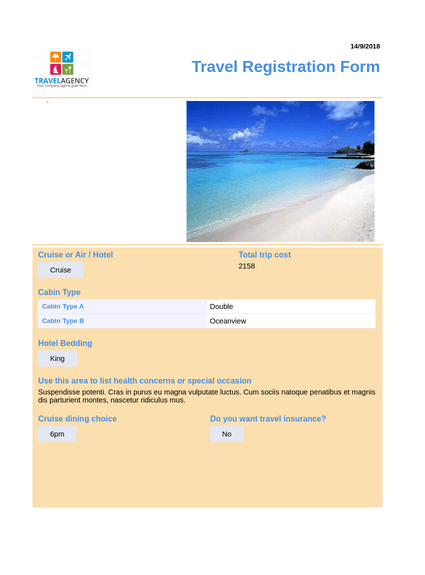 Travel Planning Registration
