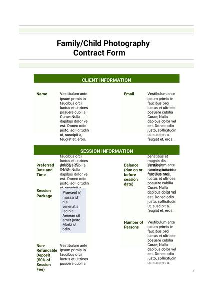 Simple Photography Agreement Template Pdf Templates Jotform