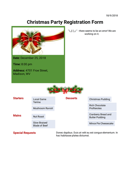 Christmas Party Invitation Template Pdf Templates Jotform