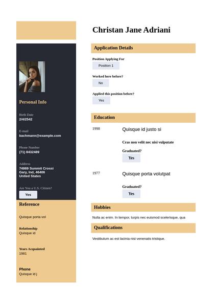 Modern Resume Template Pdf Templates Jotform