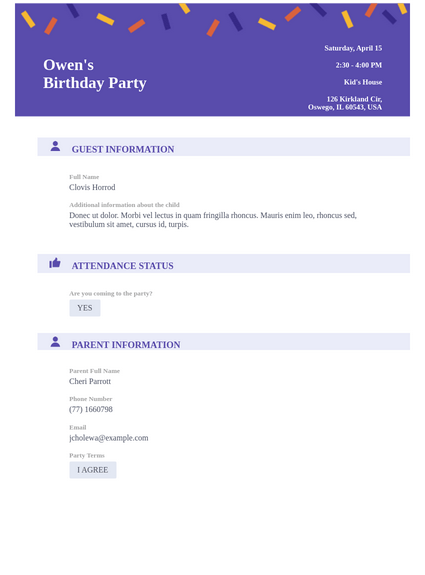 Professional Birthday Party Invitation