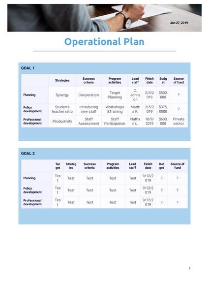 Operational Plan