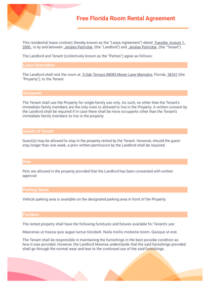 Rental And Lease Agreement Templates Pdf Templates Jotform