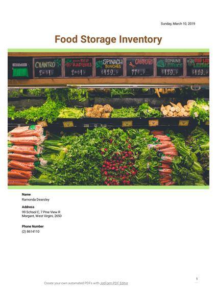 Food Storage Inventory