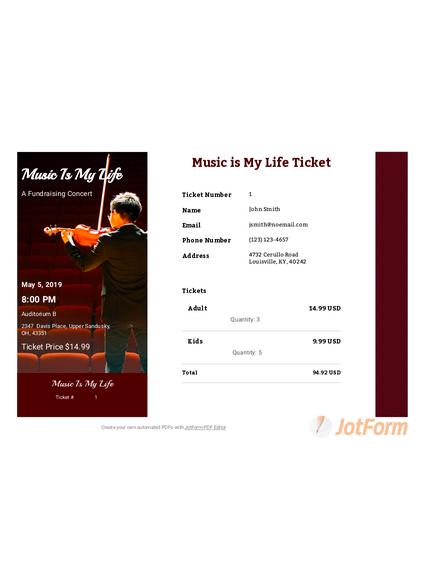 Fundraiser Ticket