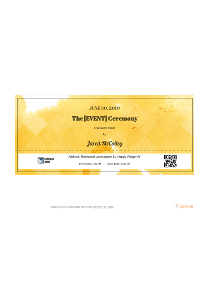 This is a picture of Intrepid Concert Ticket Template Free Printable