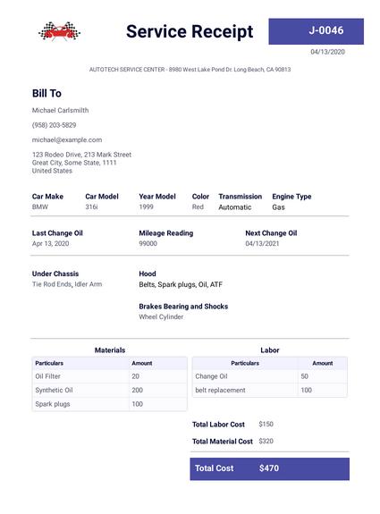 Simple Receipt Template Pdf Templates Jotform