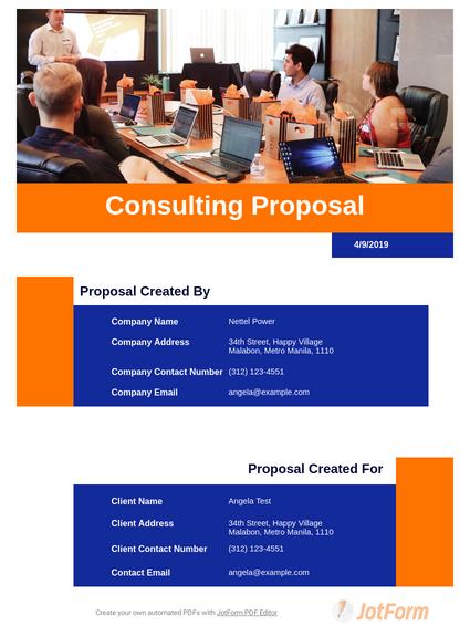 Consulting Proposal Template Pdf Templates Jotform