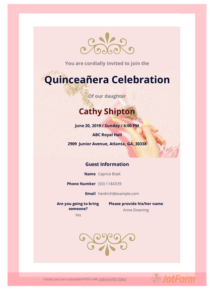 Quinceañera Invitation