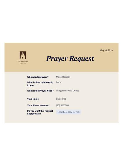 Prayer Request PDF