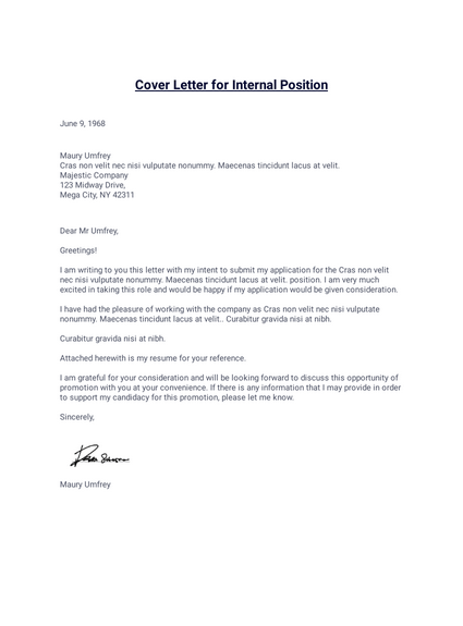 Cover Letter For Internal Position Pdf Templates Jotform