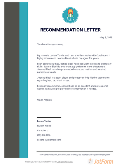 Information To Give Someone Writing A Recommendation Letter from cdn.jotfor.ms