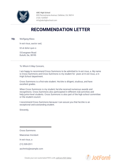 College Admission Recommendation Letter Template from cdn.jotfor.ms